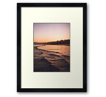 warm dusk Framed Print