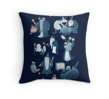 A Shared Flat for Wizards Throw Pillow