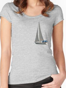 Sailing away Women's Fitted Scoop T-Shirt