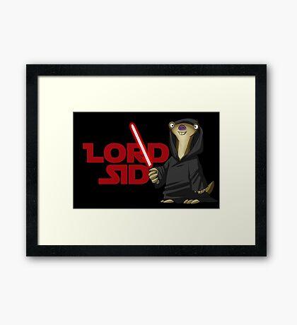 Lord Sid - Star wars/Ice Age Framed Print