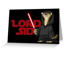Lord Sid - Star wars/Ice Age Greeting Card