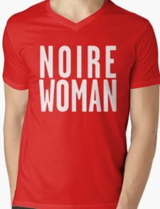Noire Woman - Black Background Mens V-Neck T-Shirt