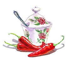 Hot Sweet Chili Peppers by Irina Sztukowski