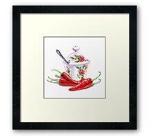 Hot Sweet Chili Peppers Framed Print