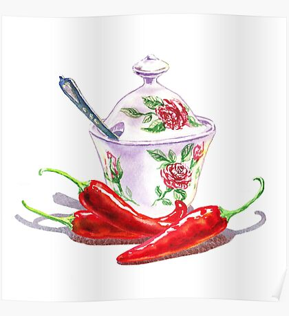 Hot Sweet Chili Peppers Poster