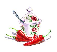 Hot Sweet Chili Peppers Photographic Print