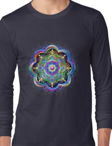 Mandala Psychedelic Art Design Long Sleeve T-Shirt