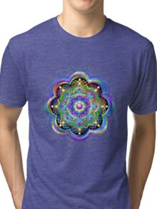 Mandala Psychedelic Art Design Tri-blend T-Shirt