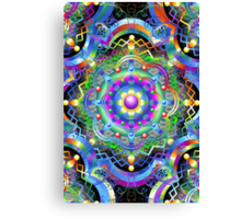 Mandala Psychedelic Art Design Canvas Print