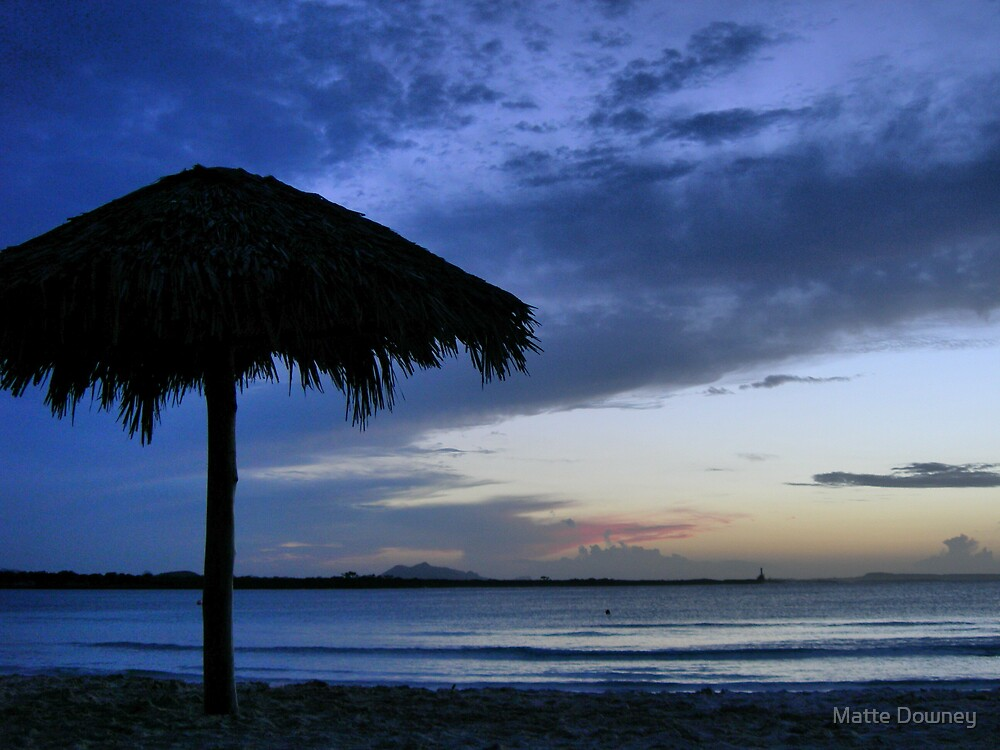 Cuban sunset by Matte Downey