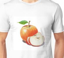 Red Apple With Slices Unisex T-Shirt