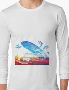 Moby Dick and the Red Sea Long Sleeve T-Shirt