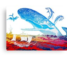 Moby Dick and the Red Sea Canvas Print