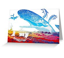 Moby Dick and the Red Sea Greeting Card