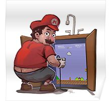 Mario Fixing the Pipes Poster