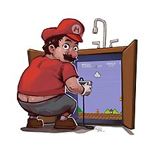 Mario Fixing the Pipes Photographic Print