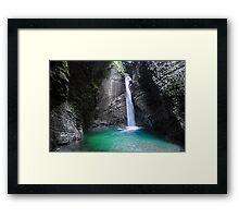 Waterfall Kozjak Framed Print