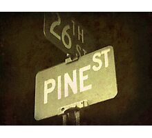 Pine And 26th Photographic Print