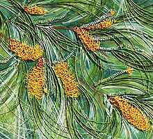 Golden Bottlebrush by Ciska