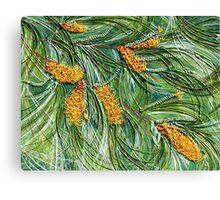Golden Bottlebrush Canvas Print