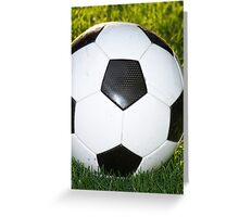 The real football Greeting Card