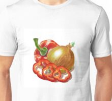 Bell Pepper And Onion Unisex T-Shirt