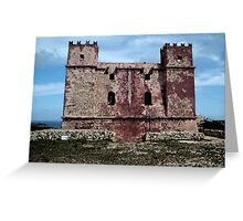 Red tower - water paint effect Greeting Card