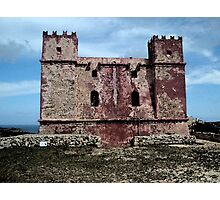 Red tower - water paint effect Photographic Print