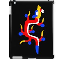 Red and blue aztec dragon iPad Case/Skin