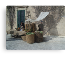From the past (1 of 4) - Vegetables and Fruit sellers Metal Print