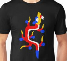 Red and blue aztec dragon Unisex T-Shirt