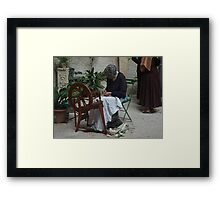 From the past (4 of 4) - Weaving the wool Framed Print