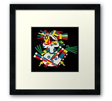 Aztec eagle and snake V2 Framed Print