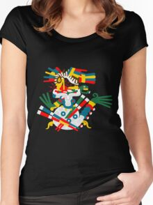Aztec eagle and snake V2 Women's Fitted Scoop T-Shirt