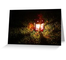 Late Night Lantern Greeting Card