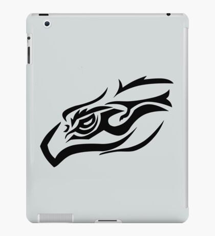 Tribal eagle on gray iPad Case/Skin