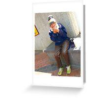 Ray busking Greeting Card