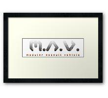 M.A.V. Logo Framed Print