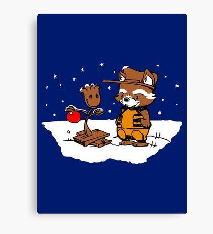 A Groovy Racoon Christmas Canvas Print