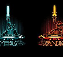 MEGA & SAMTRON (2-sided mug) by DJKopet