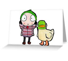sarah and duck Greeting Card