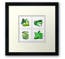 Green Vitamins Framed Print