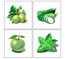 Green Vitamins Photographic Print