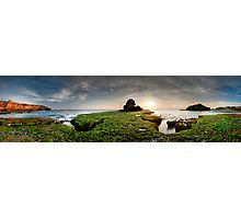 Green Rock Shelf Pan Photographic Print