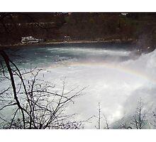 Small rainbow over Rhine Photographic Print