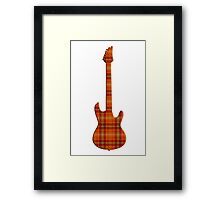 Plaid Electric Guitar Silhouette Framed Print