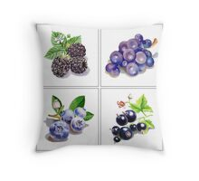 Black And Blue Vitamins Throw Pillow