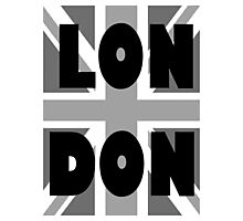 UNION JACK, LONDON, ENGLAND, GREY, BRITISH, UK, Photographic Print