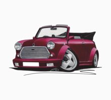 Mini Cabriolet Maroon by Richard Yeomans