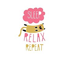 Sleep, Relax, Repeat Photographic Print